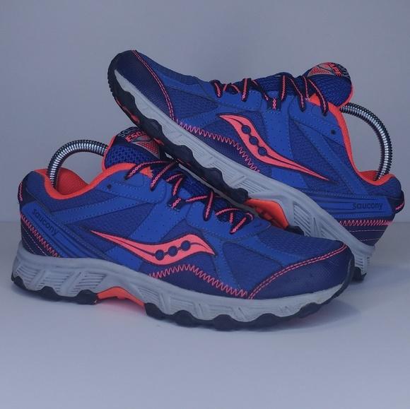 6ffd4f4f Saucony Shoes | Escape Tr Blue Orange And Gray Sneakers | Poshmark